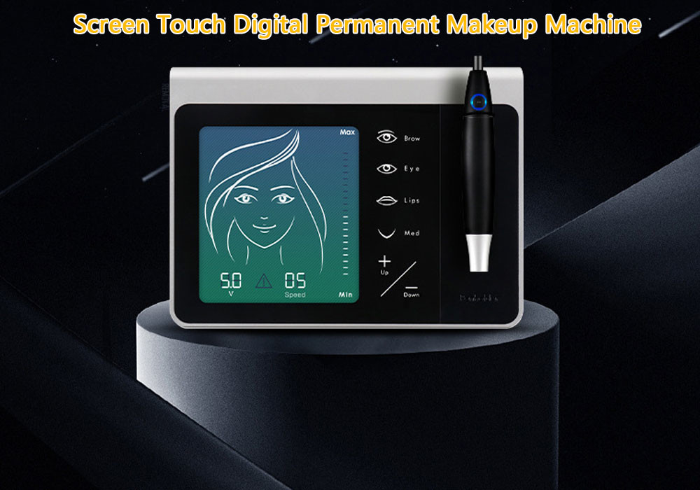 Screen Touch Digital Permanent Makeup Machine / Cosmetic Eyebrow Tattoo Kit Private Logo